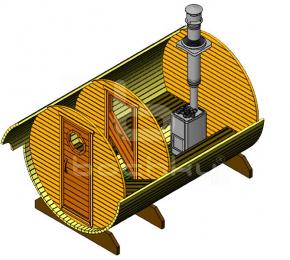 Баня-бочка «Стандарт» из ели
